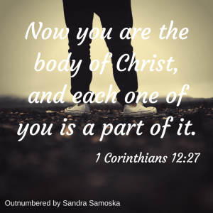 you are the body of christ - so be his hands and feet