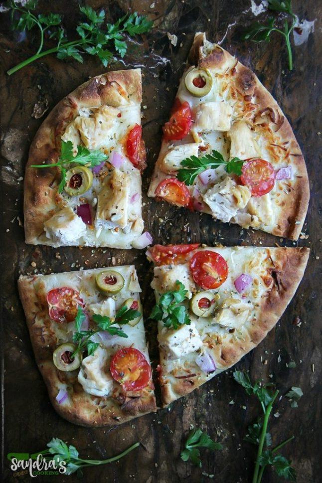 Easy Naan Bread Pizza #Recipe