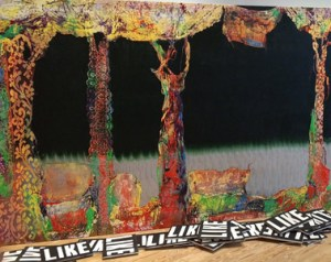 Mike Flood, partial view of Drama in the Forest (2016).