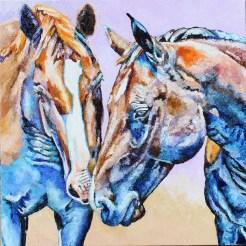 twohorses18x18