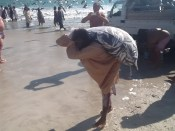 Omanas zvejnieks un atpūtnieki