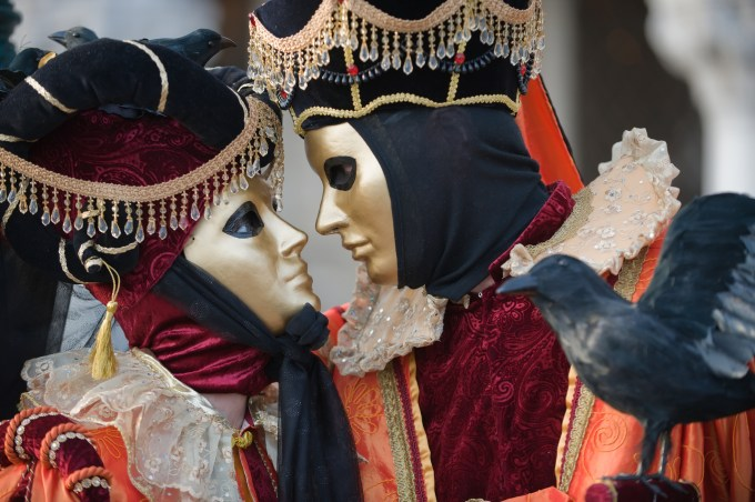 Masques couple carnaval