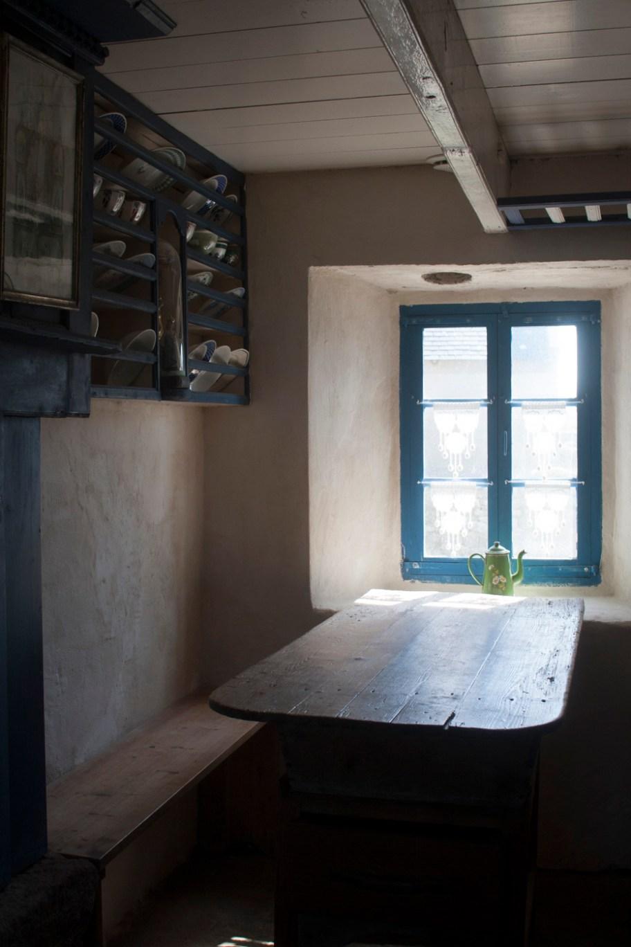 Maison traditionnelle ouessantine, aujourd'hui transformée en musée