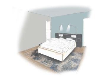 rafraîchissement appartement 3D Chambre