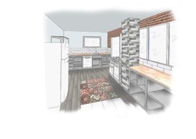 rafraîchissement appartement 3D Cuisine