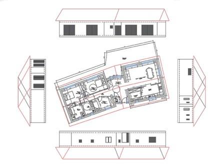 Conception villa en corse plan façades toiture