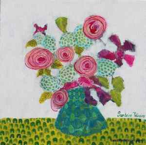 flower painting from imagination by North Vancouver artist Sandrine Pelissier