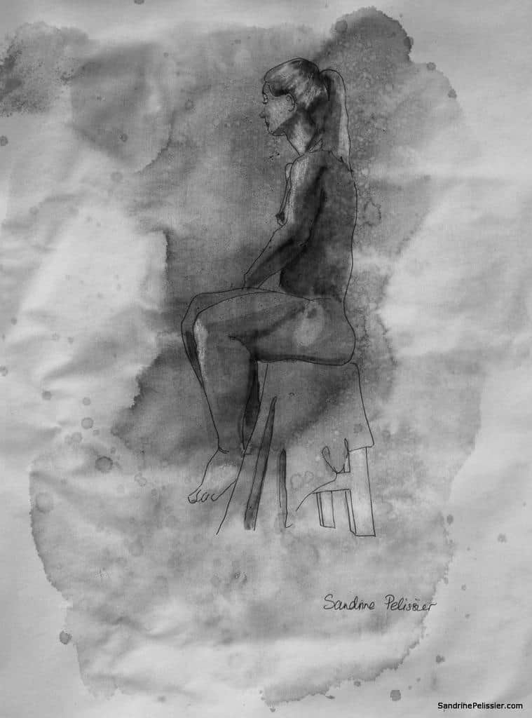 life drawing by North Vancouver artist Sandrine Pelissier