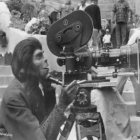 Behind the scenes stills from famous movies