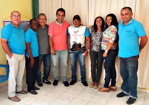 Conselheiros, vereador eleito Jossival, e o Prefeito eleito Antônio França (Foto: CTCAD)
