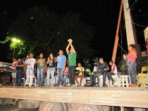 Banda que acompanhou o encerramento do festejo/Foto: Sandro Vagner