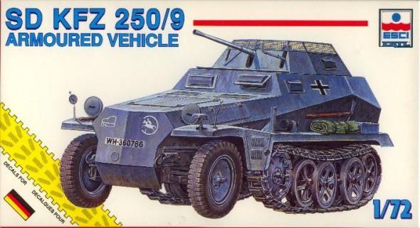 Esci 1/72 sdkfz 250/9 recce half track