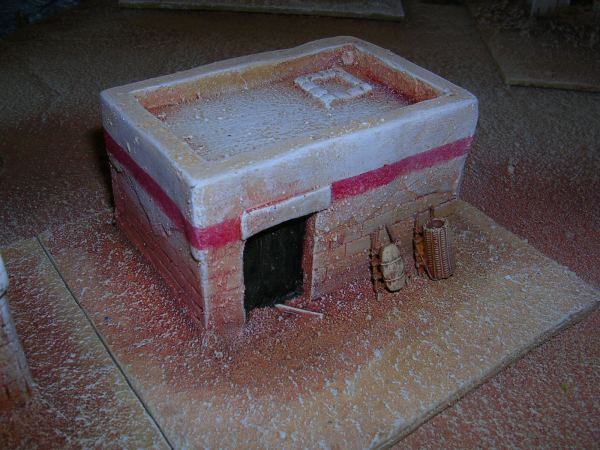 Small mud brick structure