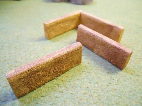 Mud walls straight (short type)