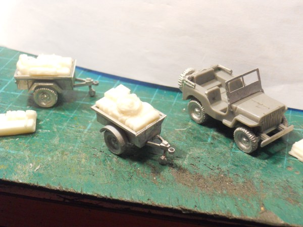 Jeep, 2 x crew & trailer