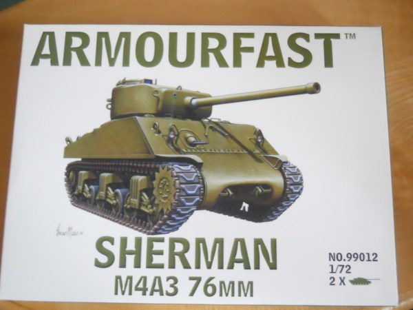 Armourfast 1/72 scale M4A3 76mm Sherman kit