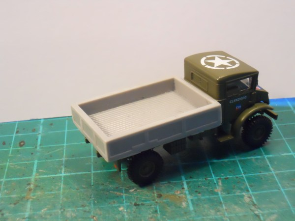 30 cwt gs body for Oxford diecast CMP Bofors tractor