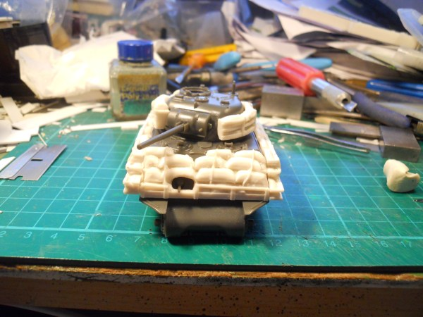 1/56th M4A3 Sherman sand bag armour