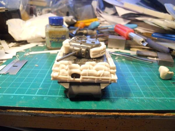 1/56th M4A3 Sherman sand bag armour