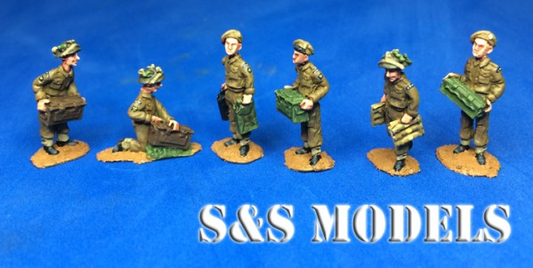 WW2 British logistic figs pk of 8