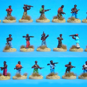 African militia pack of 10