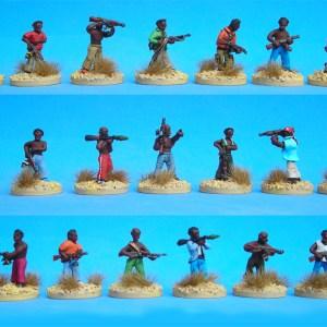 African militia pack of 10