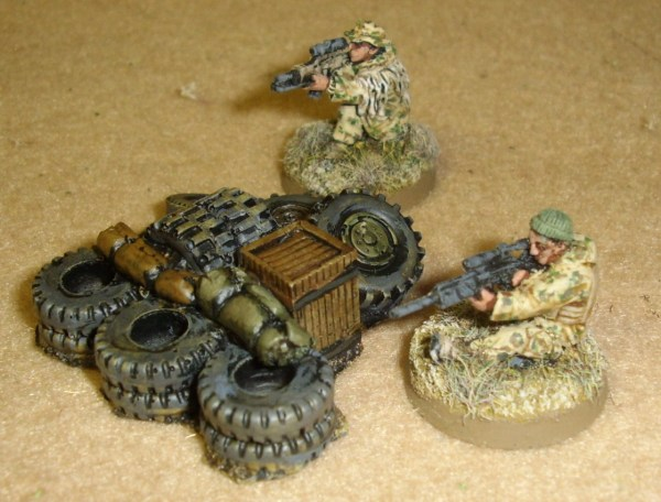 Assorted 28mm terrain items
