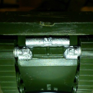 Armourfast M10 or M4A2 Exhaust and idler axle