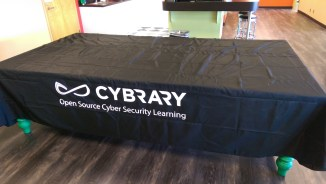 Table cloth for the event booth.