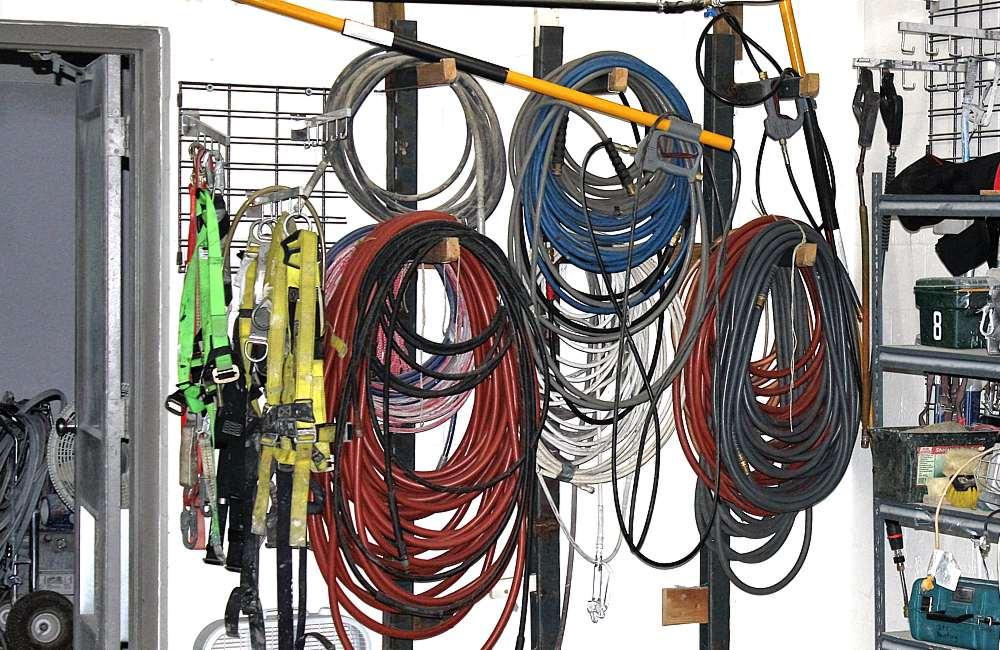 hose equipment storage