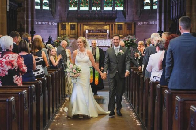 Wedding photography - the aisle shot