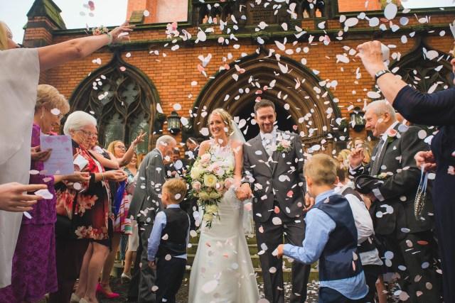 Liverpool wedding confetti photo