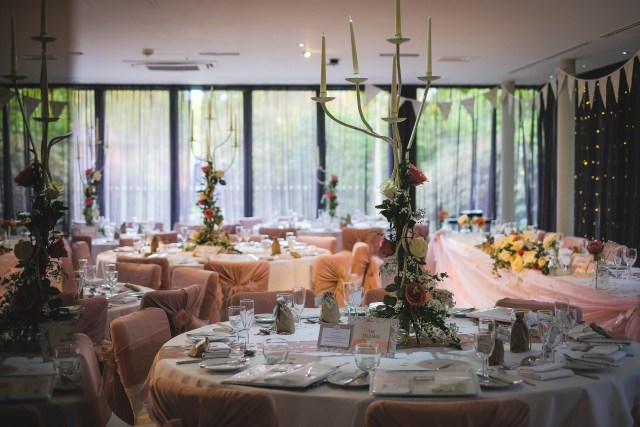 Wedding reception table layouts - Wirral wedding photographers at Holiday In Hoylake