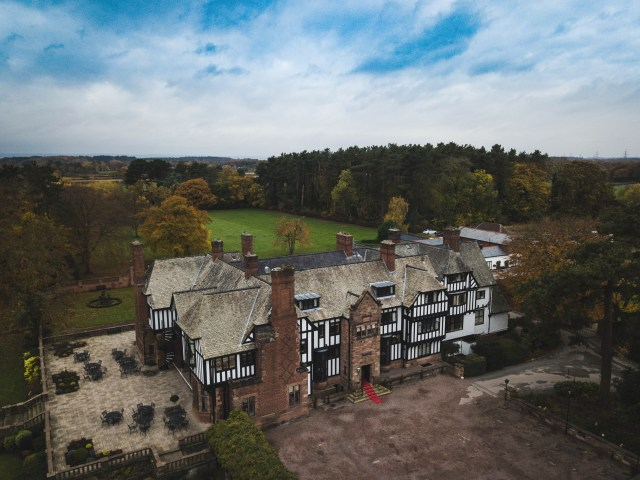Inglewood Manor wedding drone photograph