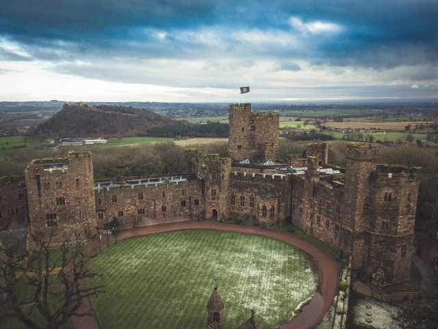 Drone wedding photography in Cheshire