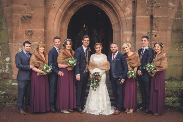 Traditional wedding photography at Peckforton Castle