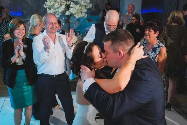 Couple kissing on dance floor at The Park Liverpool
