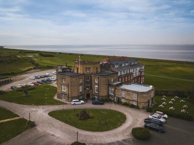 Drone photograph of Leasowe Castle on the Wirral