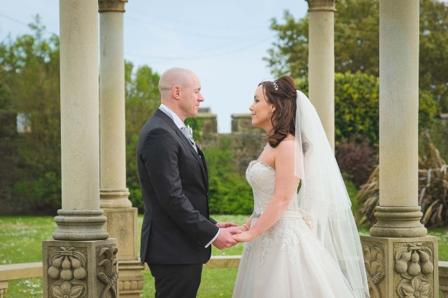 Natural wedding photography at Leasowe Castle