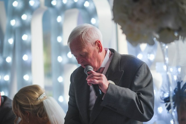 Father of bride making speech in Liverpool