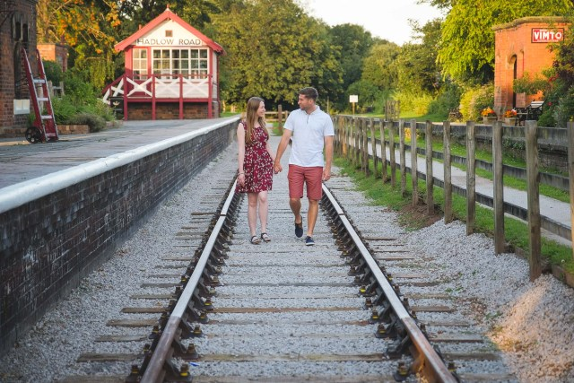Pre-wedding shoot at Hadlow Road Railway Station