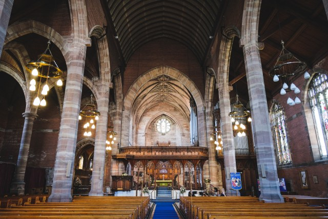 Interior of Holy Trinity Church in Southport