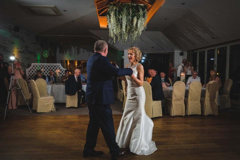 First dance at Lancashire wedding