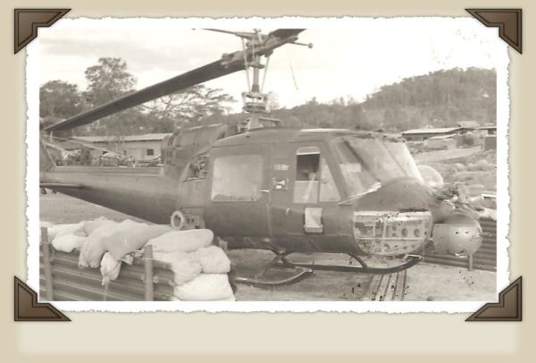 Helicopter that shot gernades.