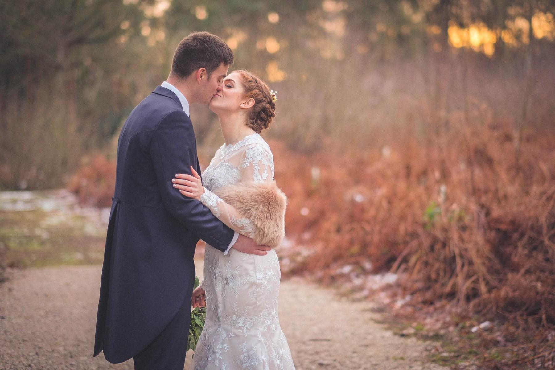 Bride & groom at Peckforton Castle Cheshire Wedding