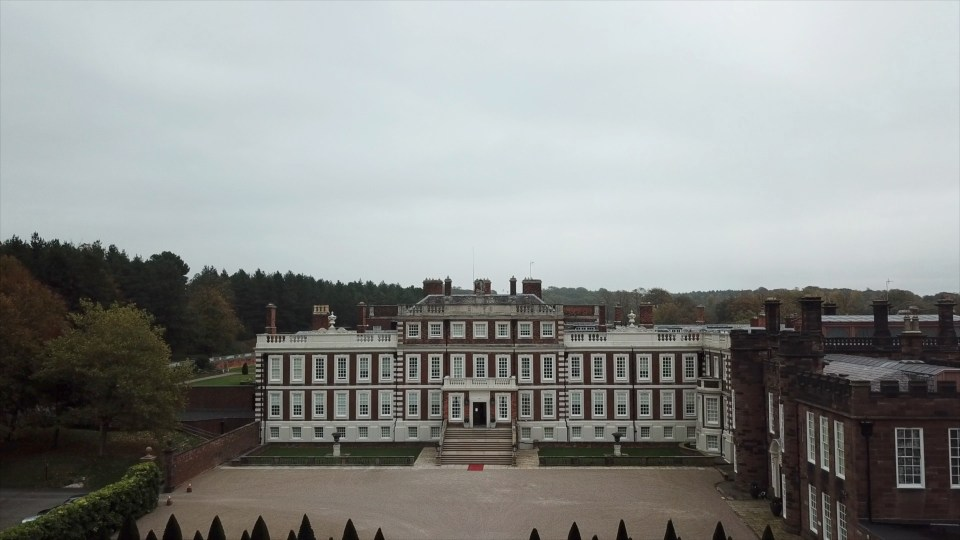 Knowsley Hall Drone Image