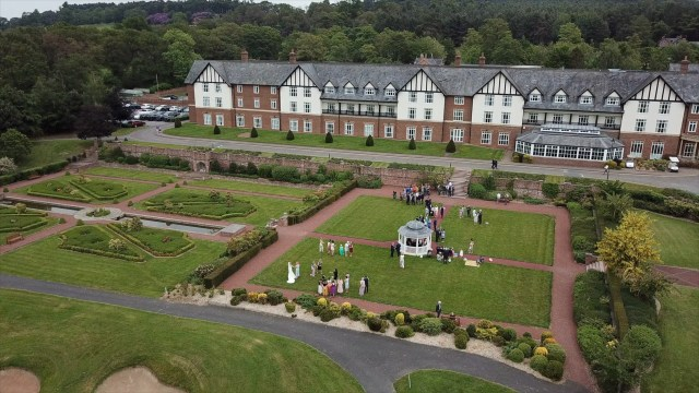 Carden Park Hotel and Spa aerial view