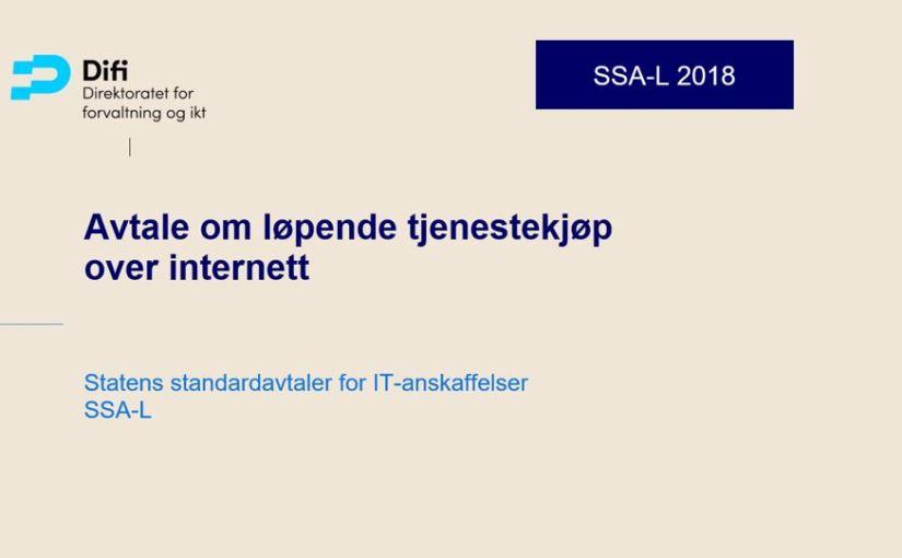 Anmeldelse: Ny versjon av avtale om løpende tjenestekjøp (SSA-L)