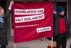 Ung Vänsters banderoll