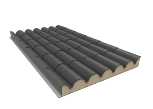 Gray Slate Tile Sandwich Panel
